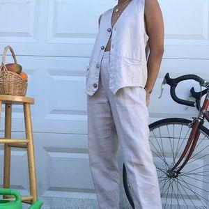 Chico's Linen pant/vest set
